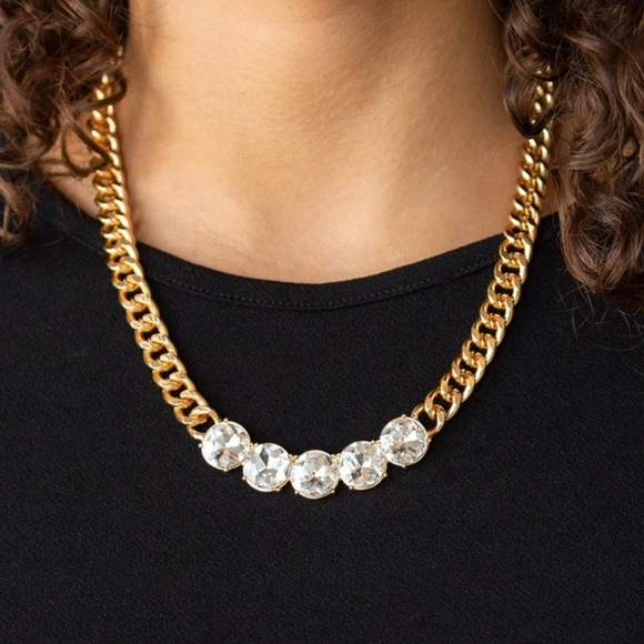 Gold Chain Necklace Earrings NWT